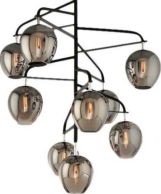 Troy Lighting Odyssey 9 - Light Sputnik Modern Linear Chandelier with Crystal Accents - Perigold
