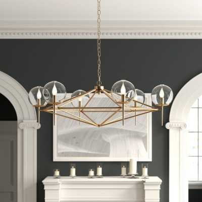 Worlds Away 6-Light Sputnik Modern Linear Chandelier Finish: Gold Leaf - Perigold