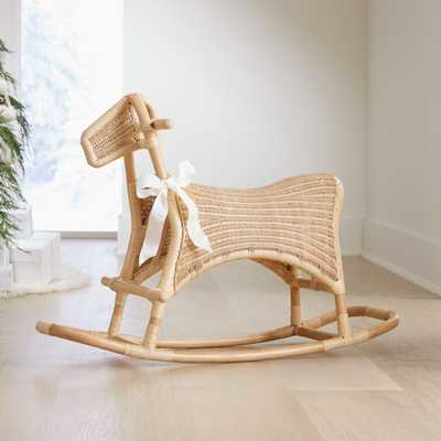 Rattan Rocking Horse - Crate and Barrel