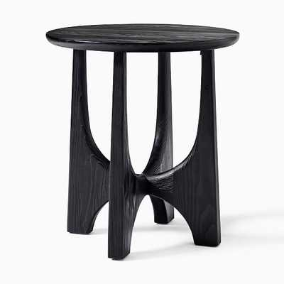 Tanner Solid Wood Black Round Hemlock Side Table - West Elm