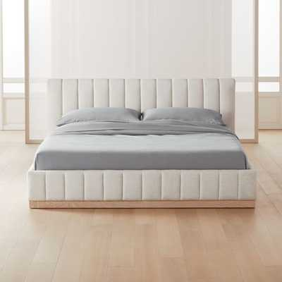 Forte White California King Bed - CB2