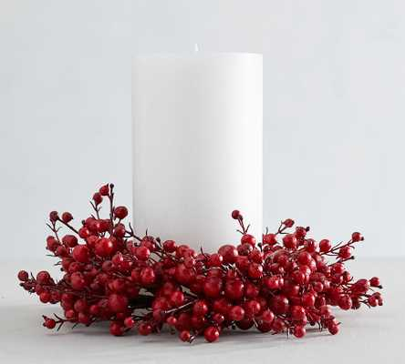 """Faux Red Berry Wreath, 11""""D - Pottery Barn"""