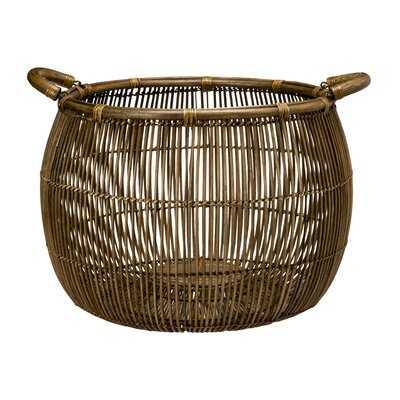 Rattan Open Weave Storage Basket - AllModern