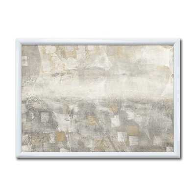 'Gray Abstract Watercolor' - Picture Frame Print on Canvas - Wayfair