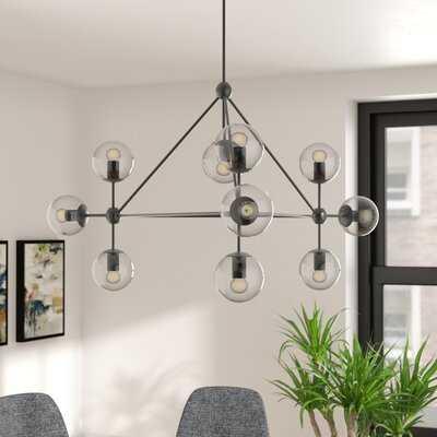 Frederick 10-Light Sputnik Modern Linear Chandelier - Wayfair