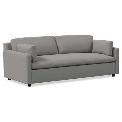 "Marin 94"" Sofa, Down, Performance Washed Canvas, Feather Grey, Concealed Support - West Elm"