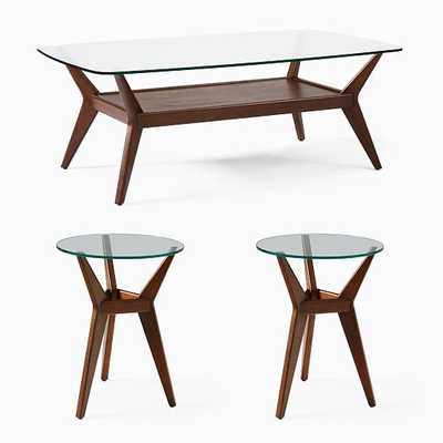 Jensen Coffee Table & 2 Side Tables Set - West Elm