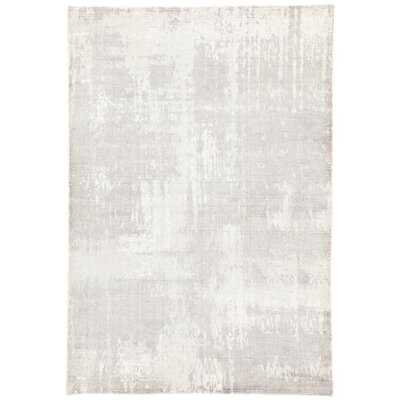 Knighten Abstract Hand Loomed Gray/White Area Rug - Wayfair