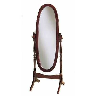 Teplin Swivel Wood Traditional Cheval Mirror - Wayfair