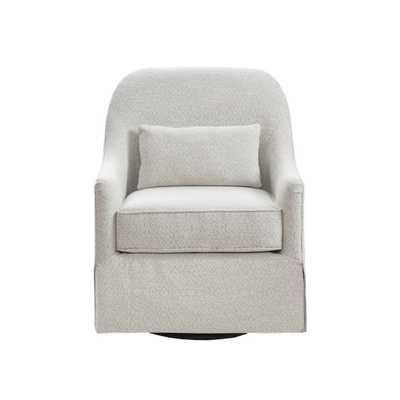 Wilmington Swivel Glider Chair Ivory/Black, White Black - Target