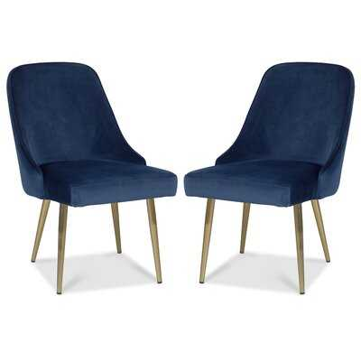 Oralie Velvet Upholstered Side Chair (set of 2) - Wayfair