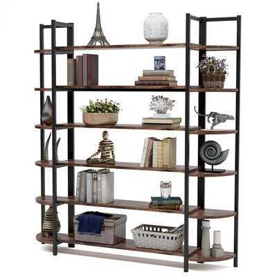 Alfon70.86'' H x 62.99'' W Metal Etagere Bookcase - Wayfair