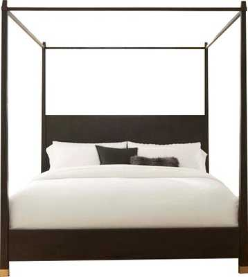 Brownstone Furniture Palmer Canopy Bed Size: Queen, Color: Mink - Perigold
