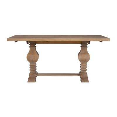 Darrah Pine Solid Wood Dining Table - Wayfair