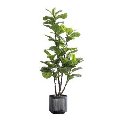 50'' Artificial Fiddle Leaf Fig Tree in Pot - Wayfair