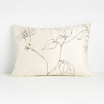 """Ivica 22""""x15"""" Pillow with Feather-Down Insert - Crate and Barrel"""