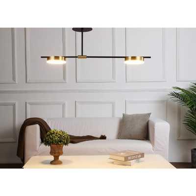 JC TOPA Brass color modern & contemporary indoor lighting LED Semi-flush ceiling lamp - Home Depot