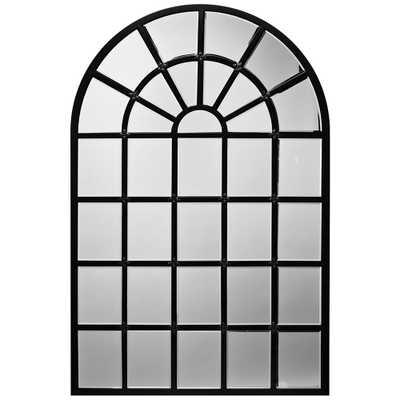"Harlem Matte Black Metal 31 1/2"" x 47 1/4"" Arch Wall Mirror - Style # 77E37 - Lamps Plus"