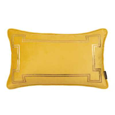Thurston Reed Velvet Feathers Lumbar Pillow Color: Mustard Yellow - Perigold