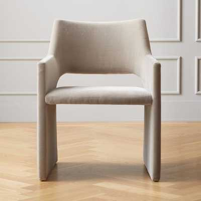 Foley Faux Mohair Grey Dining Chair - CB2