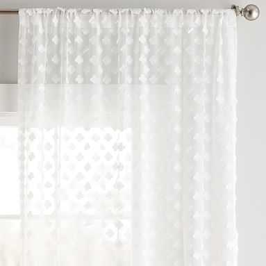 "Cloud Sheer Curtain Panel (96""), Ivory (Single Panel) - Pottery Barn Teen"