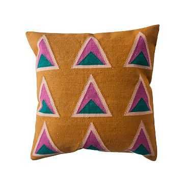 Maya Pillow, Ochre - West Elm