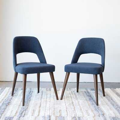 Mid Century Modern Ariel Blue Dining Chair Set Of 2 - Wayfair