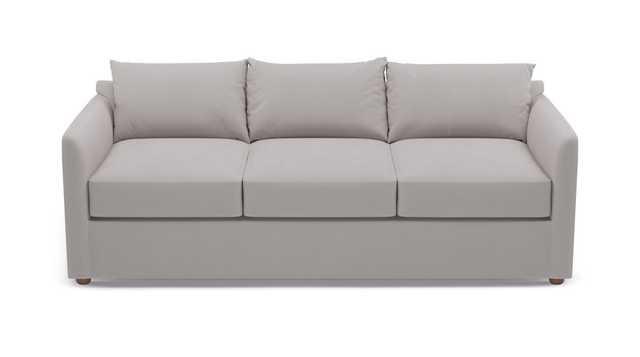 Tailored Sleeper Sofa | Platinum Velvet - The Inside