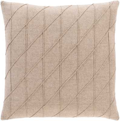 "Welsley Pillow, 22""x 22"", Camel - Cove Goods"