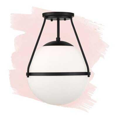 "Amirah 1 - Light 13"" Simple Globe Semi Flush Mount - Wayfair"