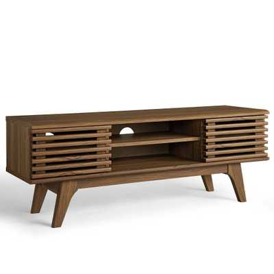 """46"""" Render Media Console Tv Stand Walnut - Modway, Brown - Target"""