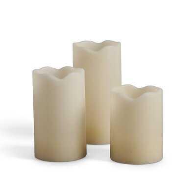 6 Piece LED Unscented Flameless Candle Set - Wayfair