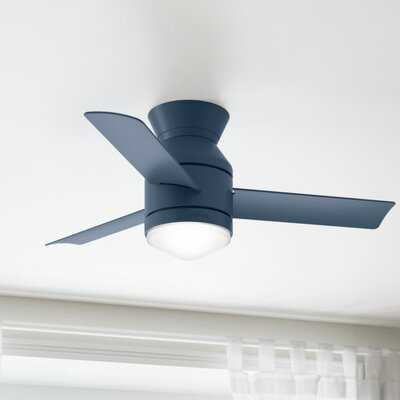 """44"""" Dublin 3 -Blade LED Standard Ceiling Fan with Remote Control and Light Kit Included - AllModern"""