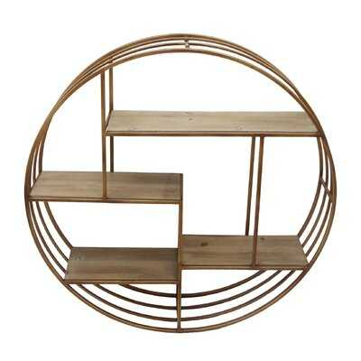 Rankins Round Metal Framed Wall Shelf - AllModern