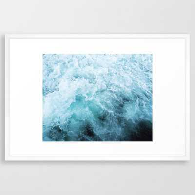 Ocean Spray Iii Framed Art Print by Cassia Beck - Vector White - LARGE (Gallery)-26x38 - Society6