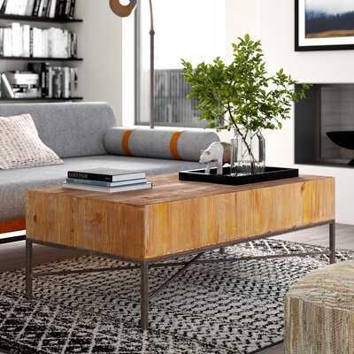 Carly Reclaimed Wood Coffee Table - Wayfair