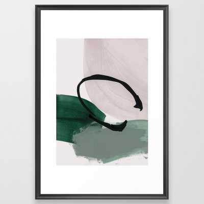Minimalist Painting 01 Framed Art Print by Iris Lehnhardt - Scoop Black - LARGE (Gallery)-26x38 - Society6