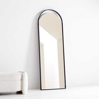Aosta Black Arch Cutout Floor Mirror - Crate and Barrel