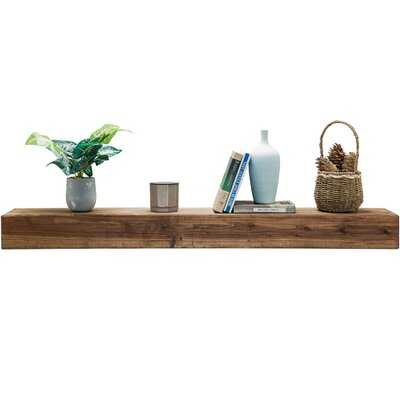 Esponga Fir Solid Wood Floating Shelf - Wayfair