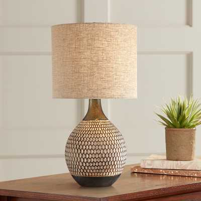 Emma Brown Ceramic Mid-Century Table Lamp with Table Top Dimmer - Style # 89M30 - Lamps Plus