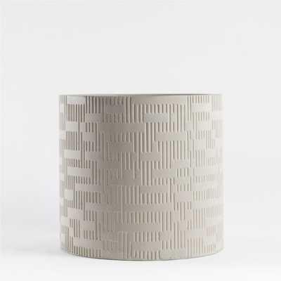 Argo Small Grey Planter - Crate and Barrel
