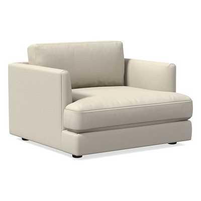 Haven Chair-and-a-Half , Trillium, Sunbrella Performance Slub Tweed, Pebble, Concealed Support - West Elm