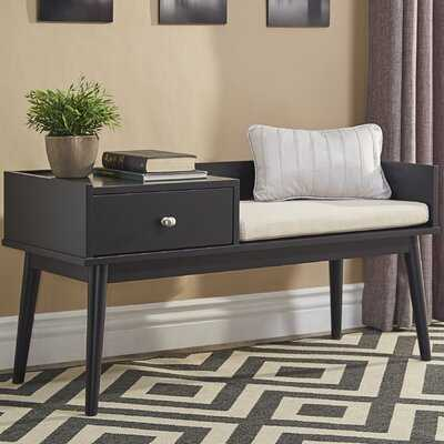Branson Wood Storage Bench - Wayfair