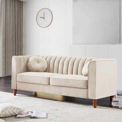 Marwin Velvet 75.5'' Tuxedo Arm Sofa - Wayfair