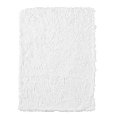St. Jude Fluffy Luxe Throw, 50x60, White - Pottery Barn Teen