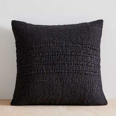 "Cozy Weave Pillow Cover, 24""x24"", Slate - West Elm"