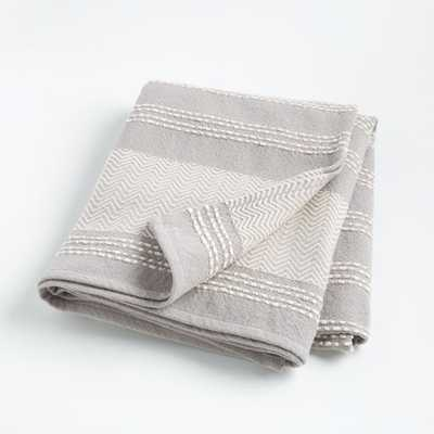 Grey Textured Throw Blanket - Crate and Barrel