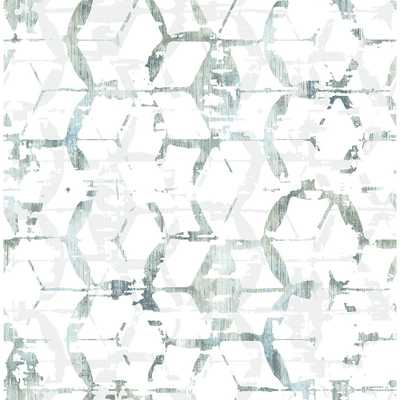 A-Street 8in. x 10in. Augustine Slate Distressed Geometric Sample, Grey - Home Depot