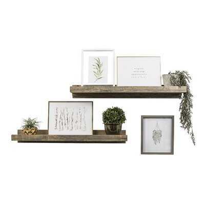 Tishie 2 Shelves 2 Piece Pine Solid Wood Floating Shelf - Birch Lane