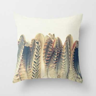 """Feather Dip Couch Throw Pillow by Cassia Beck - Cover (16"""" x 16"""") with pillow insert - Indoor Pillow - Society6"""